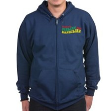 Italian and Brazilian Zip Hoodie