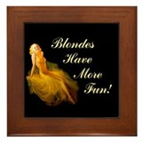 Blonde Pin-Up Framed Tile