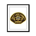 Salt Lake County Sheriff Framed Panel Print
