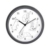 Rabbit Illustration Wall Clock