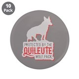 "Protected by Quileute Wolfpac 3.5"" Button (10 pack"