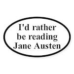 I'd Rather be Reading Jane Austen Car Sticker