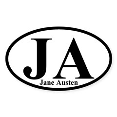 JA: Jane Austen Oval Bumper Sticker