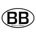 BB: Barbara Boxer Oval Bumper Sticker