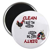 "ROOSTER AND HEN Dishwasher Magnet 2.25"" Magne"