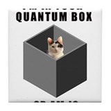 Quantum cat Tile Coaster