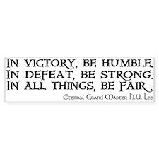 HU Lee quote Bumper Sticker