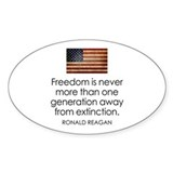 Freedom is never more... Decal