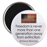 Freedom is never more... Magnet