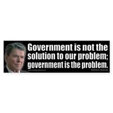 Government is not... Bumper Sticker