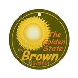 Brown Governor Ornament (Round)