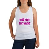 will run for wine Women's Tank Top