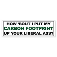 Carbon Footprint Up Your Ass Car Sticker