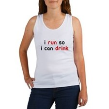 i run so i can drink Women's Tank Top