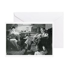 Unique Vintage radio Greeting Cards (Pk of 10)