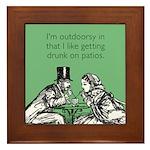 Drunk On Patios Framed Tile