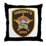 Polk County Sheriff Throw Pillow