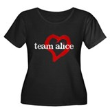 Team Alice Women's Plus Size Scoop Neck Dark T-Shi