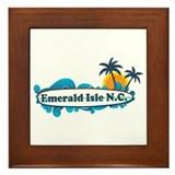 Emerald Isle NC - Surf Design Framed Tile