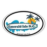 Emerald Isle NC - Surf Design Decal