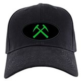 Crossed Rock Hammers (green) Baseball Hat