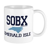 Emerald Isle NC - Map Design Mug