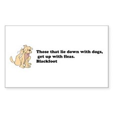 Lie with dogs Decal