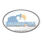 Emerald Isle NC - Waves Design Decal