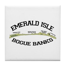 Emerald Isle NC - Map Design Tile Coaster