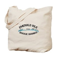 Emerald Isle NC - Map Design Tote Bag
