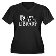 Dover Plains Library Women's Plus Size V-Neck Dark
