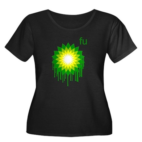 Fuck You BP Womens Plus Size Scoop Neck Dark T-Sh