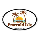 Emerald Isle NC - Palm Trees Design Decal