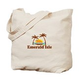Emerald Isle NC - Palm Trees Design Tote Bag