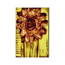 Absract Photo Art Copper Flower Rectangle Magnet