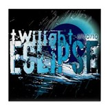 Eclipse Reflect Blue by Twiba Tile Coaster
