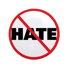 "No Hate-Circle Slash 3.5"" Button (100 pack)"