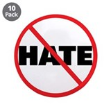 "No Hate-Circle Slash 3.5"" Button (10 pack)"