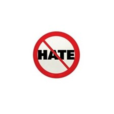 No Hate-Circle Slash Mini Button