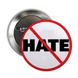 "No Hate-Circle Slash 2.25"" Button (100 pack)"