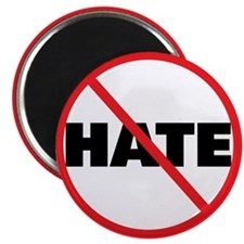 No Hate-Circle Slash Magnet