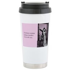 Subway Transfers Stainless Steel Travel Mug
