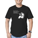 Must Be Love Men's Fitted T-Shirt (dark)