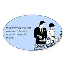 Meeting You Sticker (Oval)