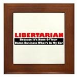 Libertarian Because Framed Tile
