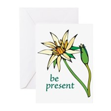 Lotus Flower/Be Present Greeting Cards (Package of