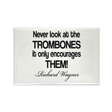 Wagner Trombone Quote Rectangle Magnet