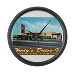 Hody's Drive-In Large Wall Clock