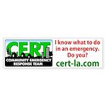 CERT-LA Bumper Sticker