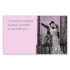 Subway Transfers Sticker (Rectangle)